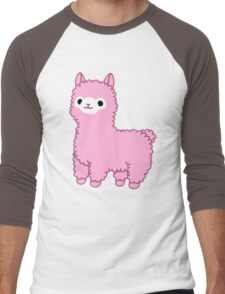 Pink Alpaca Men's Baseball ¾ T-Shirt