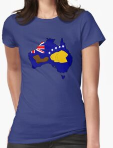 SIMPSONS VS AUSTRALIA Womens Fitted T-Shirt