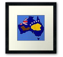 SIMPSONS VS AUSTRALIA Framed Print