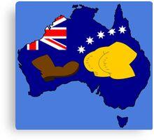 SIMPSONS VS AUSTRALIA Canvas Print