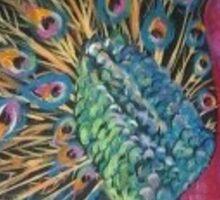 Fabulous Peacock Sticker
