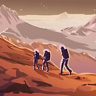 Hiking on Mars by DeetsArt