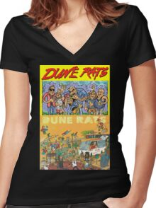 Dune Rats Women's Fitted V-Neck T-Shirt