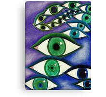 Trippy Eyes Canvas Print