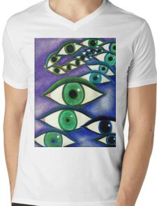 Trippy Eyes Mens V-Neck T-Shirt