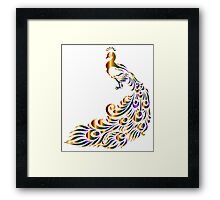 abstract Peacock Framed Print