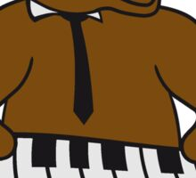 music, piano, keyboard party ribbon bass buttons play dance hat cool club concert hardrock heavy metal teddy bear Sticker