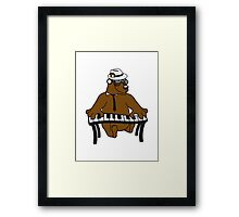 music, piano, keyboard party ribbon bass buttons play dance hat cool club concert hardrock heavy metal teddy bear Framed Print
