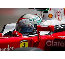 Ferrari formula 1 Sebastian Vettel Photographic Print