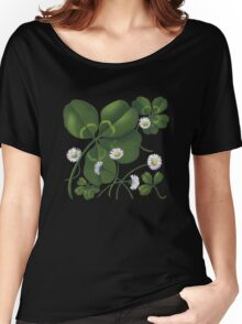 Cloverleaf - acrylic painting Women's Relaxed Fit T-Shirt