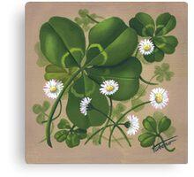 Cloverleaf - acrylic painting Canvas Print