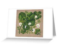 Cloverleaf - acrylic painting Greeting Card