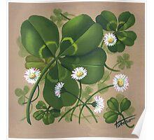 Cloverleaf - acrylic painting Poster