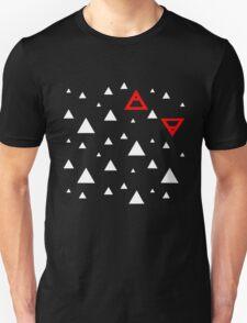 Air&Earth (AV) white triangles Unisex T-Shirt