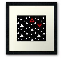 Air&Earth (AV) white triangles Framed Print