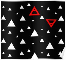 Air&Earth (AV) white triangles Poster