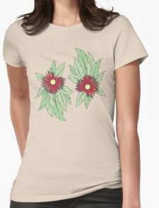 growing flowers on concrete Womens Fitted T-Shirt