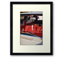 King of rock and roll hung in the rearview mirror Framed Print