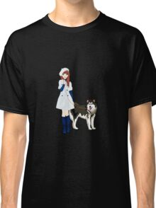 Girl with a dog Classic T-Shirt