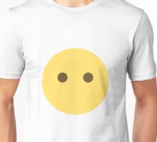 No Mouth Emoji (eyes only) Unisex T-Shirt