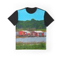 Old Boat Houses on the Lake Graphic T-Shirt
