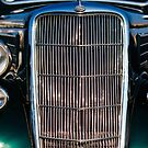 Vintage Ford customized coupe front grill by htrdesigns