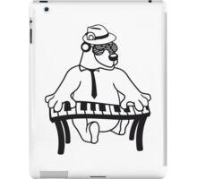 music, piano, keyboard party ribbon bass buttons play dance hat cool club concert hardrock heavy metal teddy bear iPad Case/Skin