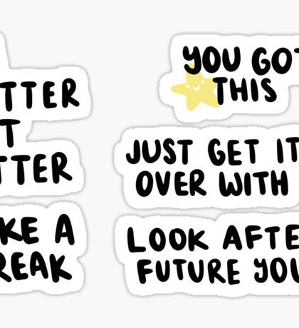 Positivity/Motivation Sticker Sheet - Typography Sticker