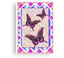 pink butterfly 30 Canvas Print