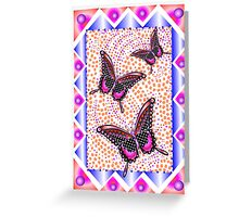 pink butterfly 30 Greeting Card