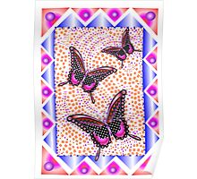 pink butterfly 30 Poster