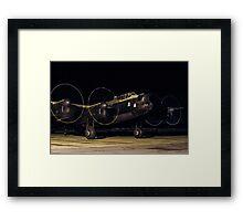 "Lancaster B.VII NX611 G-ASXX  ""Just Jane"" out of darkness Framed Print"