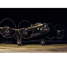"""Lancaster B.VII NX611 G-ASXX  """"Just Jane"""" out of darkness Photographic Print"""