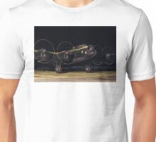 """Lancaster B.VII NX611 G-ASXX  """"Just Jane"""" out of darkness Unisex T-Shirt"""