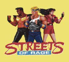 STREETS OF RAGE - AXEL-BLAZE-ADAM  One Piece - Short Sleeve