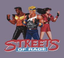STREETS OF RAGE - AXEL-BLAZE-ADAM  Kids Tee