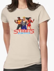 STREETS OF RAGE -AXEL-BLAZE-ADAM Womens Fitted T-Shirt