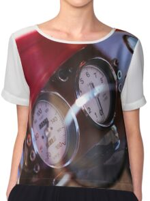 Vintage customized car dashboard Chiffon Top