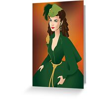 Green Velvet Greeting Card