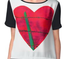 """""""Guarded"""" heart image products Chiffon Top"""