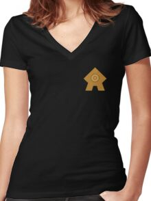 United Republic emblem Women's Fitted V-Neck T-Shirt