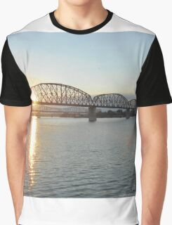 beautiful sunset, bridge, landscape Graphic T-Shirt