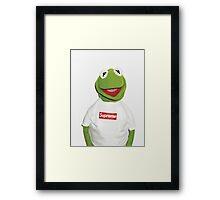 Supreme Kermit Framed Print