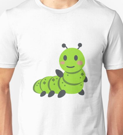 Caterpillar/Bug Waving Emoji Unisex T-Shirt