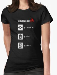 IN CASE OF FIRE Womens T-Shirt