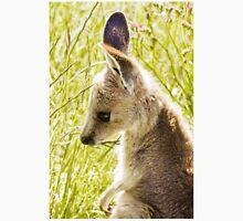 Eastern Grey Kangaroo Joey in Long Grass Unisex T-Shirt