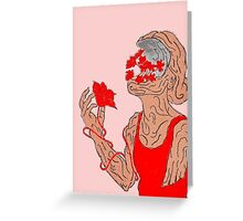 The Wooden Girl Greeting Card
