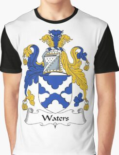 Waters Coat of Arms / Waters Family Crest Graphic T-Shirt