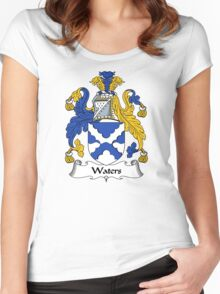 Waters Coat of Arms / Waters Family Crest Women's Fitted Scoop T-Shirt