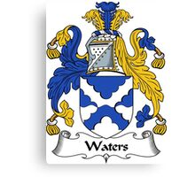 Waters Coat of Arms / Waters Family Crest Canvas Print